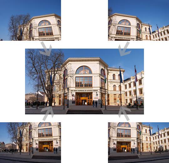 Négy fotót összefűzni nem nehéz: általában automatikusan is szépen összeállítják a képet a jobb panrámaszoftverek