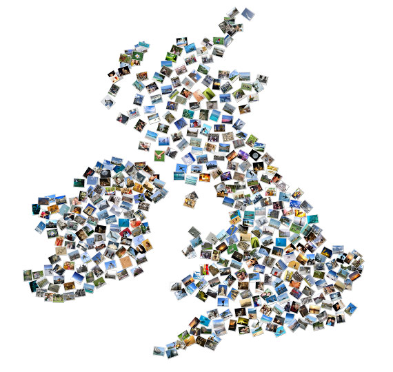 Anglia fotókollázs