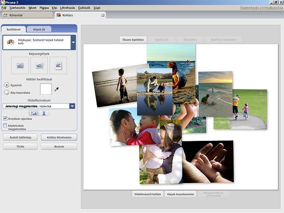 Picasa fotókollázs mappa kiválasztása