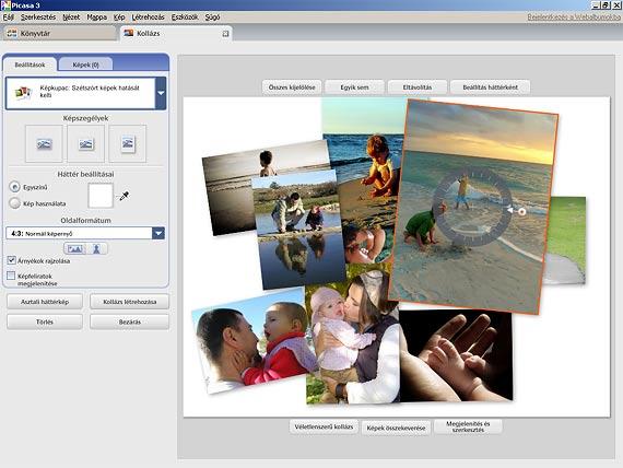 Picasa fotókollázs szerkesztése