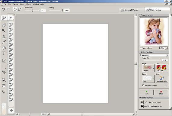 Corel Painter Essentials fő ablak