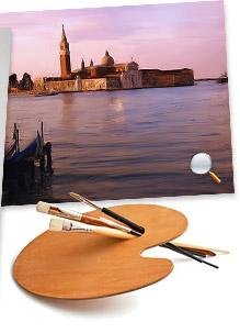 Az itt látható képek mind a Corel Painter Essentials Oil Painting nevű, automatikus eszközével készültek, minimális utólagos kézi festéssel