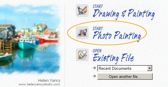 Corel Painter Essentials start