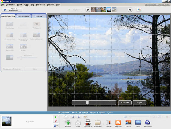 Picasa képek kiegyenesítése